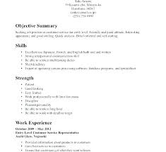 Resume Objective Or Summary Medical Receptionist Resume Objective