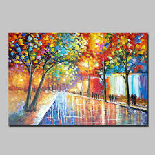 2019 mintura art large hand painted palette knife landscape oil painting for living room home decor wall art pictures canvas paintings original from viliom