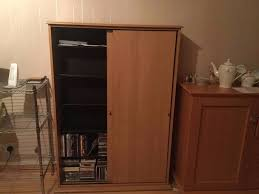 Sliding Door Dvd Cabinet Cd Dvd Storage Cabinet 5 Shelves Sliding Doors In Milton