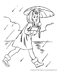 Small Picture Spring Coloring Pages Kids Girl with umbrella Coloring Page