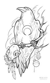 сообщество иллюстраторов иллюстрация ворон