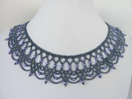 Free Beading Patterns Delectable FREE Beading Pattern For Necklace Lacy Net BeadDiagrams