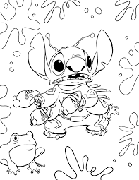 Lilo And Stitch Alien Stitch Coloring Page Disney Lol Disney Lol