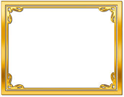 gold frame png picture