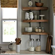 ... Large Size Rustic Kitchen Shelves Our Vintage Home Love Reclaimed Wood  Shelving Reveal Ideas ...