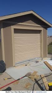 12x16 backyard shed with garage door plans by icreatables