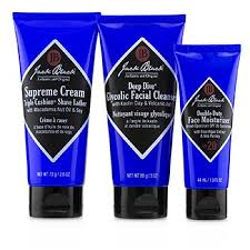shave essentials kit deep dive glycolic cleanser supreme cream triple cushion shave lather