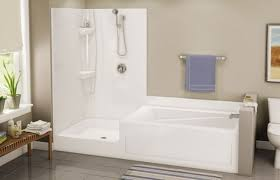 image of corner tub shower combo units
