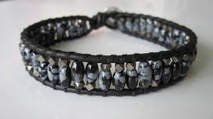 leather wrap bracelet diy