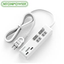 <b>NTONPOWER</b> Smart USB Charger with 2 AC Outlets <b>Power Strip</b> ...