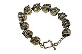 biker skull bracelet