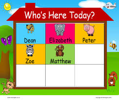 Whos Here Today Chart Whos Here Today Self Registration Chart Mindingkids