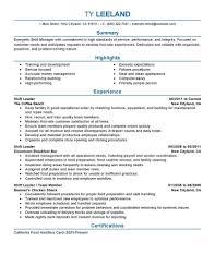 Manager Resume Jmckell Com