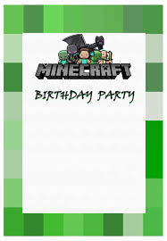 Party At Ease With Minecraft Invitations Free Invitation