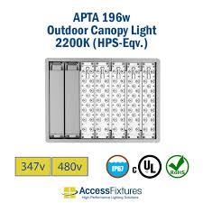 480v Lighting Apta 200 Outdoor Led Canopy Light 2200k Hps Eqv 347 480v Extreme Life