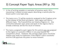 regional educational laboratory fy fy acquisition solicitation 3 concept paper topic areas rfi p