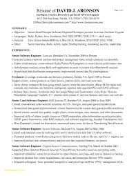 Software Engineer Resume Summary Beautiful Senior Software Engineer
