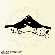 two love bird silhouette. Simple Silhouette Two Little Birds In Love  Bird Silhouette In Love Bird Silhouette T