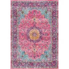 verona pink 7 ft x 9 ft area rug