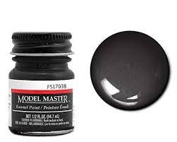 Testor Corp Gloss Black Enamel Paint 5 Oz Bottle Fs17038