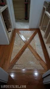 wood floor inlays. Wood Floor With Brick Tile Inlay Inlays