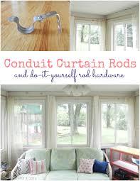 pvc conduit curtain rods and diy rod