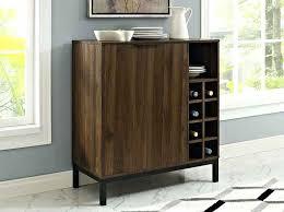 wooden buffet furniture ft modern bar cabinet buffet with wine storage dark walnut