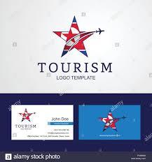 Gm Travel Design Travel Korea North Flag Creative Star Logo And Business Card