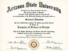 Free Printable College Degree Templates Asu College Diploma