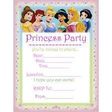 Disney Princesses Printable Birthday Invitation Printables