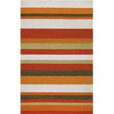 ravella stripe orange outdoor rug  dfohome