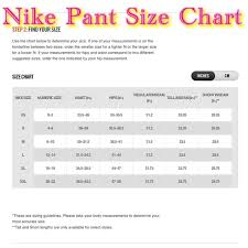 Nike Compression Pants Size Chart Nike Pros Size Chart Nike Pro Size Guide Nike Apparel Sizing