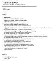 Java Developer Resume Sample Velvet Jobs Pdf One C Sevte