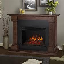 real flame callaway grand electric fireplace in chesnut oak