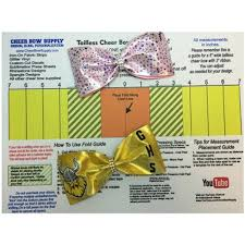 cheer bow supply how to make a tailless cheer bow template