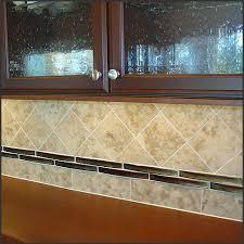 glass travertine tile backsplash. Modren Tile 4x4 Travertine Tile U0026 Glass Border 2x4 For Backsplash G