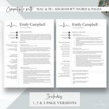 Modern Nurse Resume Format Word Nurse Resume Template Cv For Nursing Student Nursing