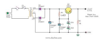 v linear regulator for transceiver radio electronic projects 12 6v voltage regulator using pnp emitter follower