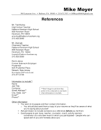 Resume References