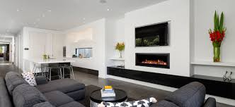 seamless landscape gas fireplace