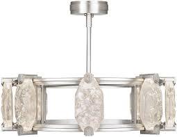 fine art lamps 872840 1st allison paladino modern silver leaf led lighting chandelier loading zoom