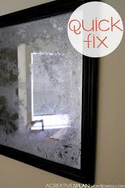 mercury glass mirror. Quick Fix: The Non-Acid Antiqued Mirror | Acreativesplan Mercury Glass