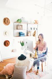 white airy home office. Livvyland-blog-olivia-watson-west-elm-home-office- White Airy Home Office