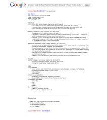 Google Sample Resume Tomyumtumweb Com