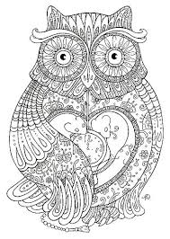 Ornate Owl Theprintablelab Coloring Pages Owl Coloring Pages