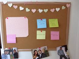 diy heart garland corkboard