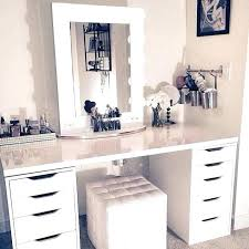 White Makeup Vanity Set Bedroom Vanity And Also Where To Buy Makeup ...