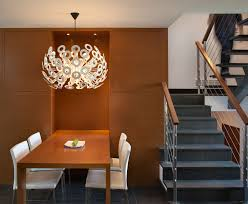 white metal chairs design with unique chandelier above square dining table furniture and staircase ideas