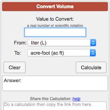 Volume Conversion Calculator