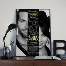 Bradley cooper, jennifer lawrence, robert de niro and others. Silver Linings Playbook Bradley Cooper Movie Poster Print Picture A3 A4 Size Ebay